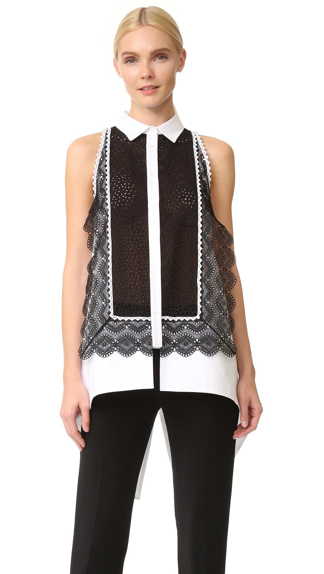 Antonio Berardi Sleeveless Blouse - Black/White at Shopbop