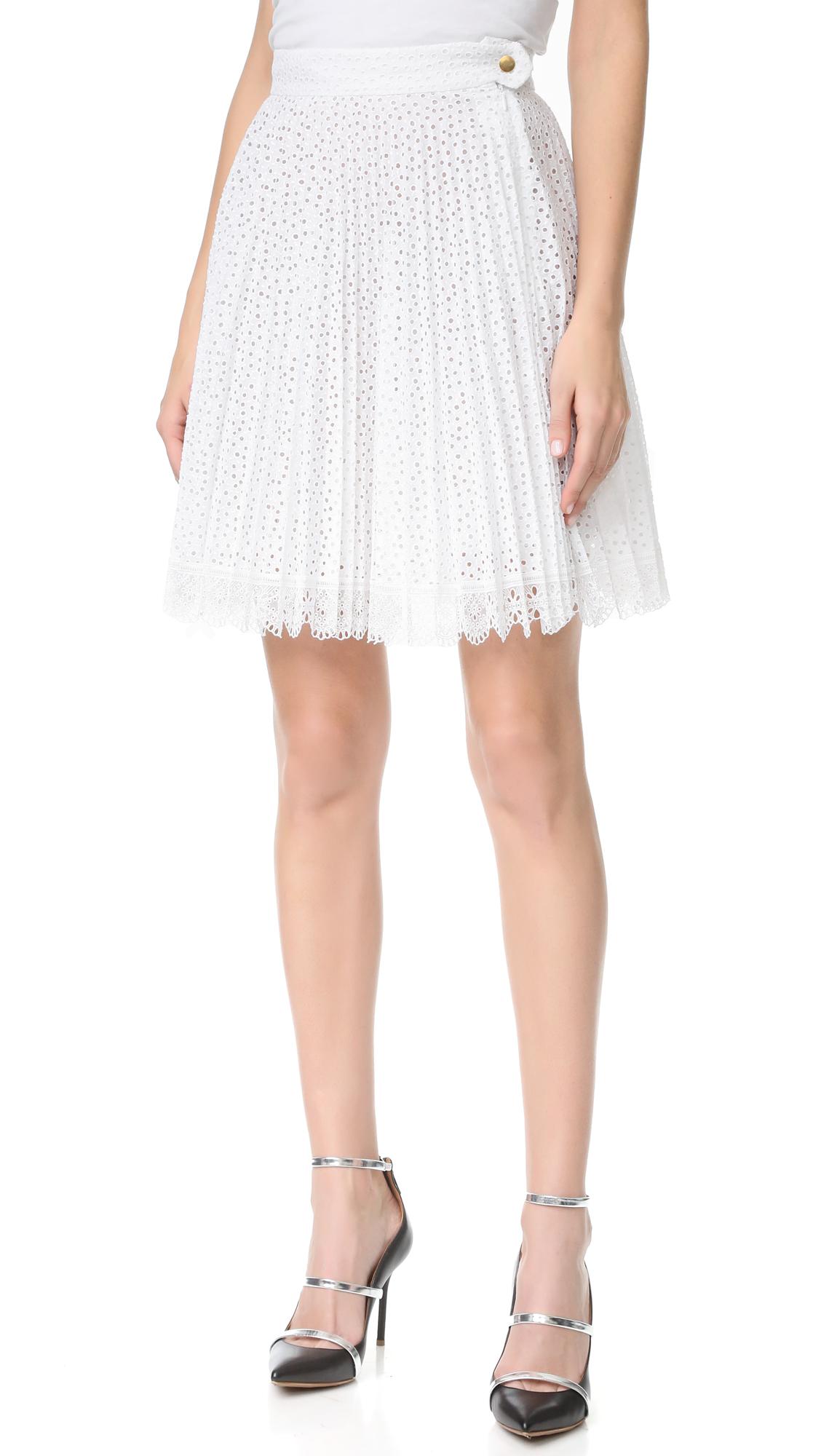 Antonio Berardi Pleated Skirt - Bianco Ottico at Shopbop