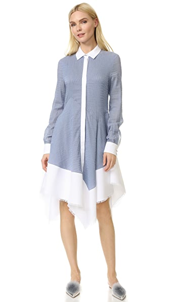 Antonio Berardi Woven Dress - Celeste/Bianco