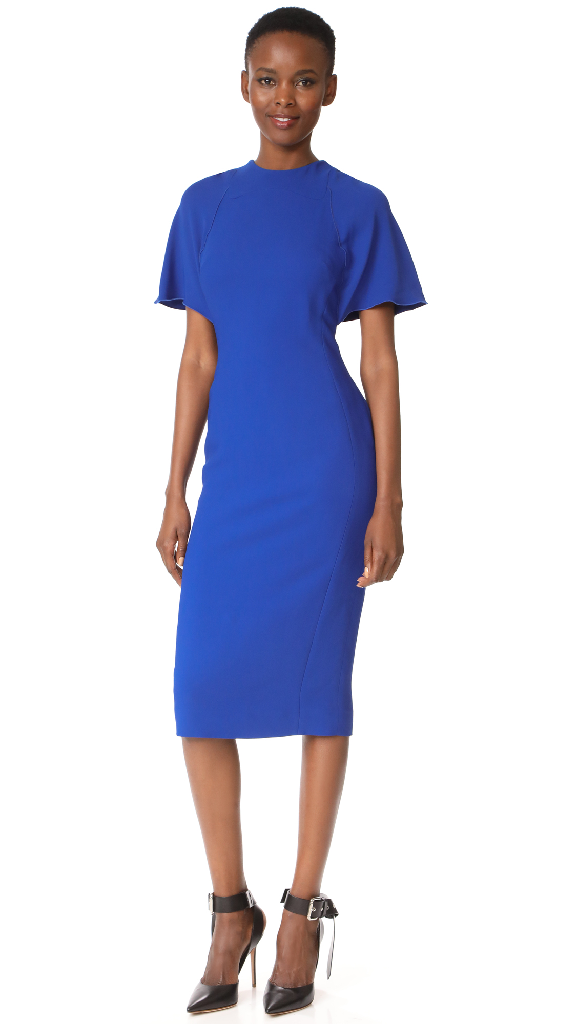 Antonio Berardi Short Sleeve Dress - Blu Elettrico