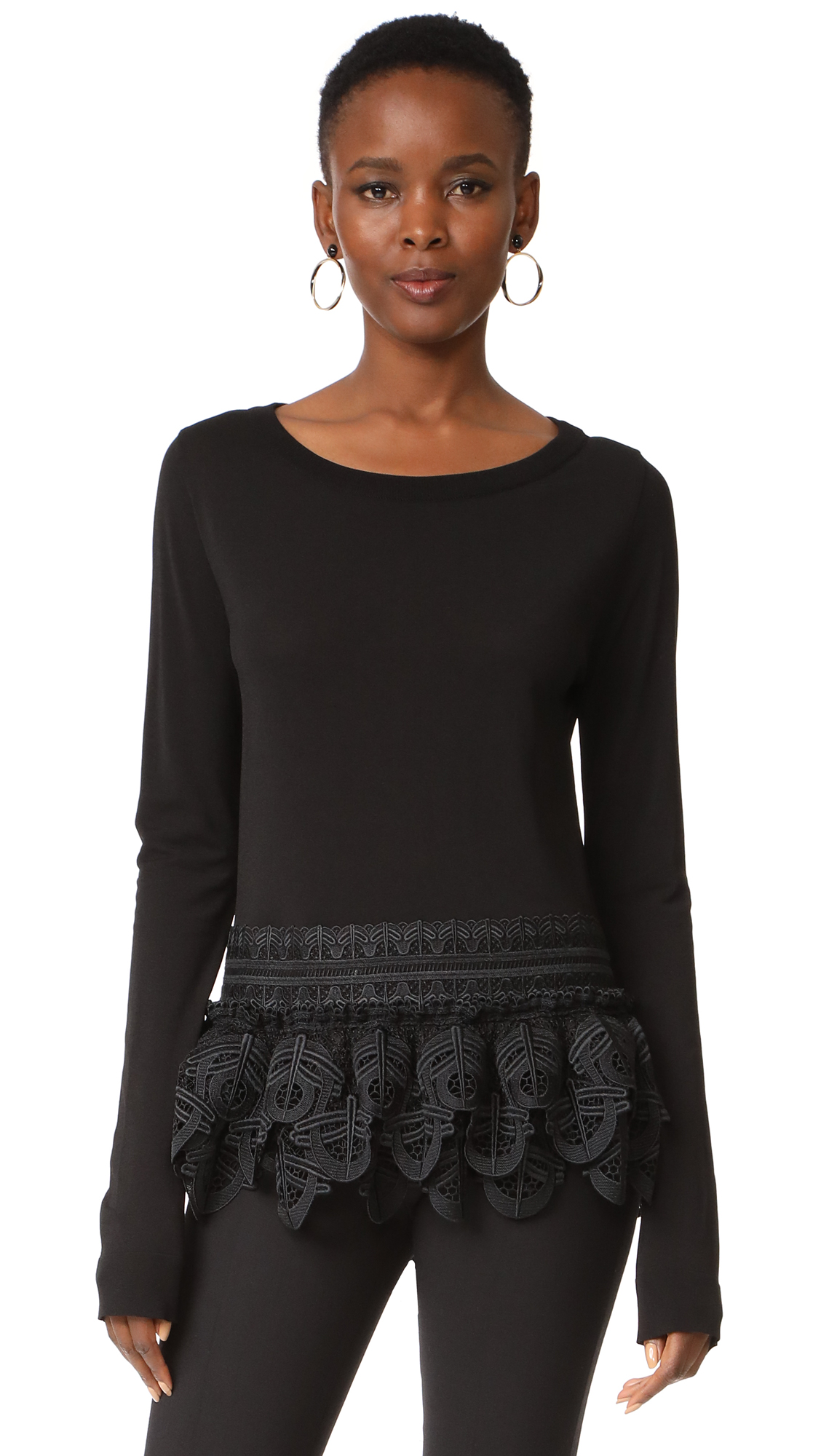 Antonio Berardi Long Sleeve Sweater - Nero