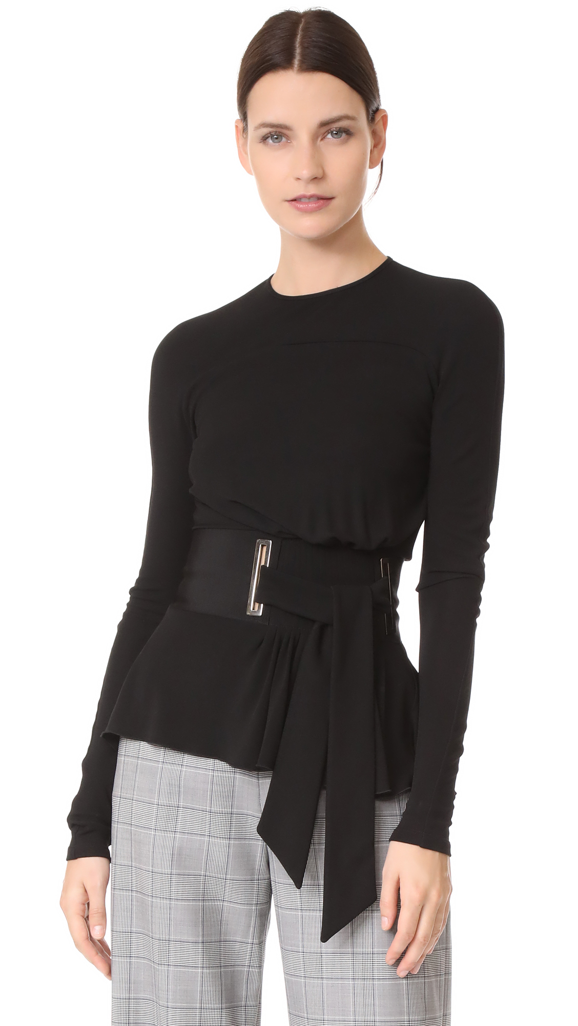 Antonio Berardi Long Sleeve Blouse - Nero