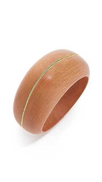 Aurelie Bidermann Ali Hornbeam Wood Cuff