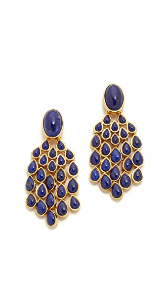 Aurelie Bidermann Wild West Clip On Lapis Lazuli Earrings - Gold at Shopbop