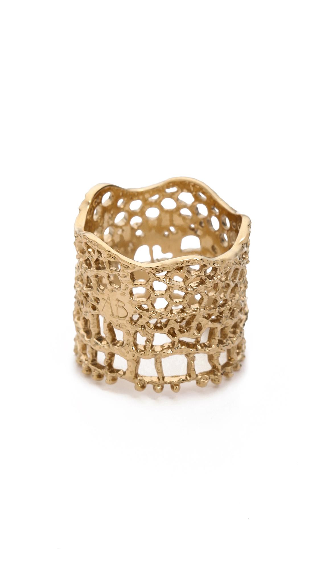 Aurelie Bidermann Vintage Lace Ring - Gold at Shopbop