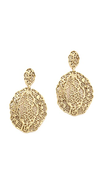Aurelie Bidermann Lace Earrings - Gold