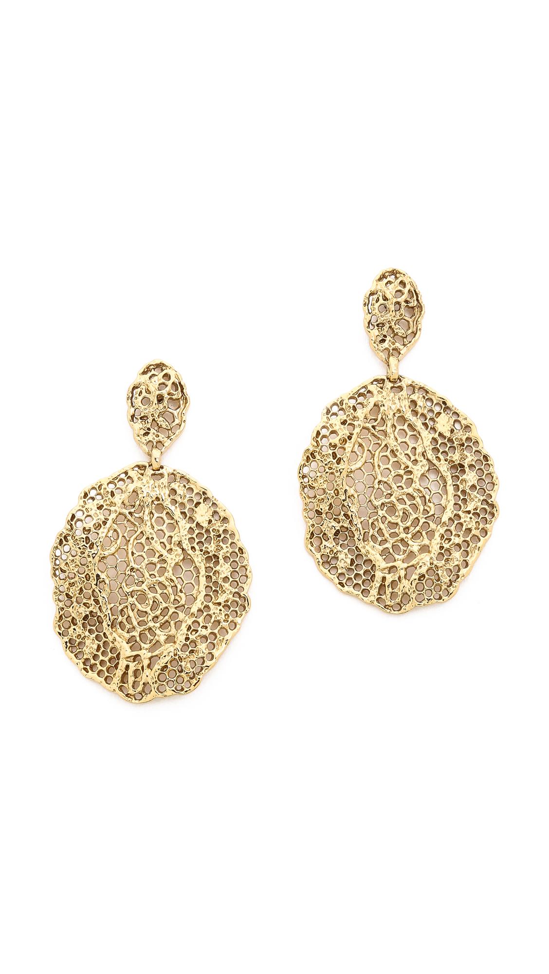 Aurelie Bidermann Lace Earrings - Gold at Shopbop