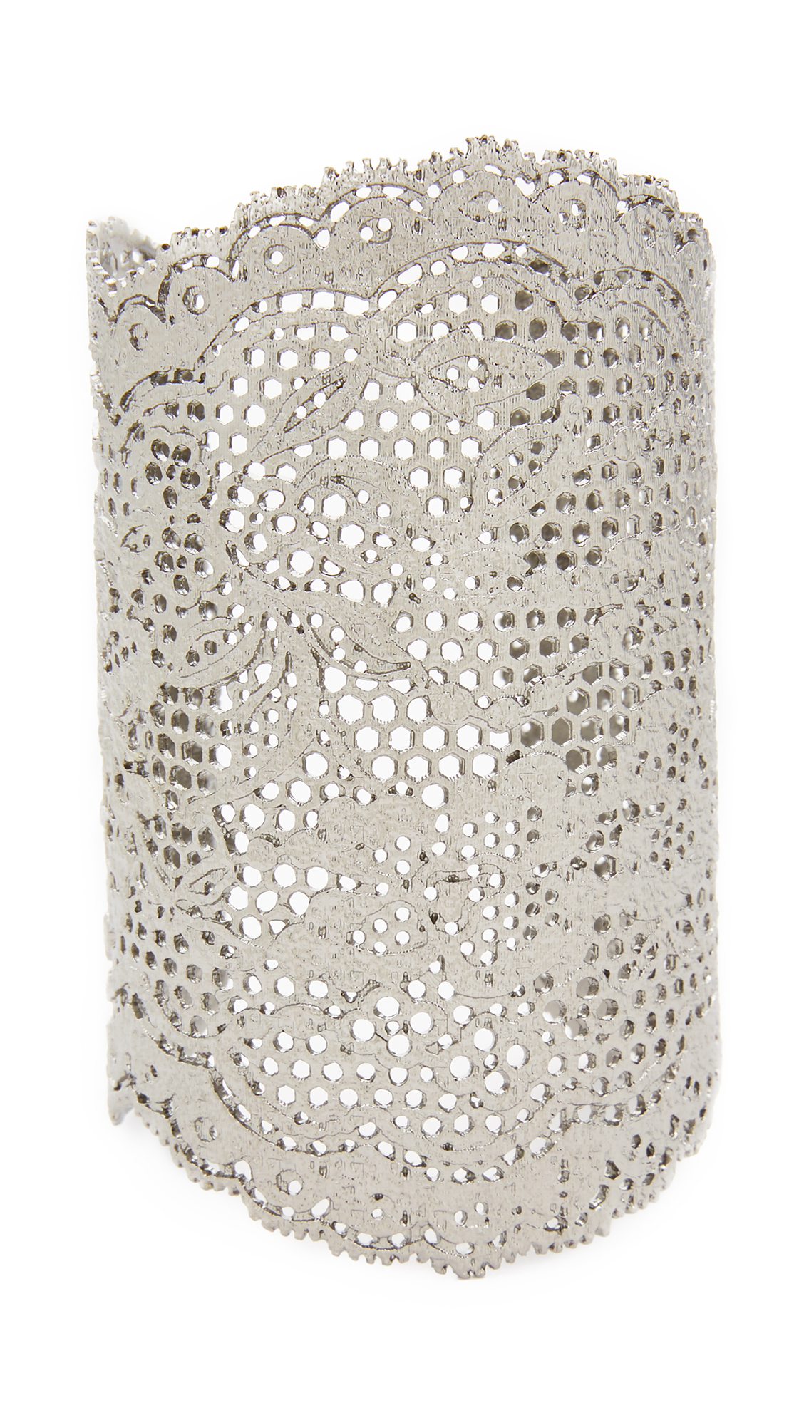 Aurelie Bidermann Vintage Lace Cuff - Black Silver at Shopbop