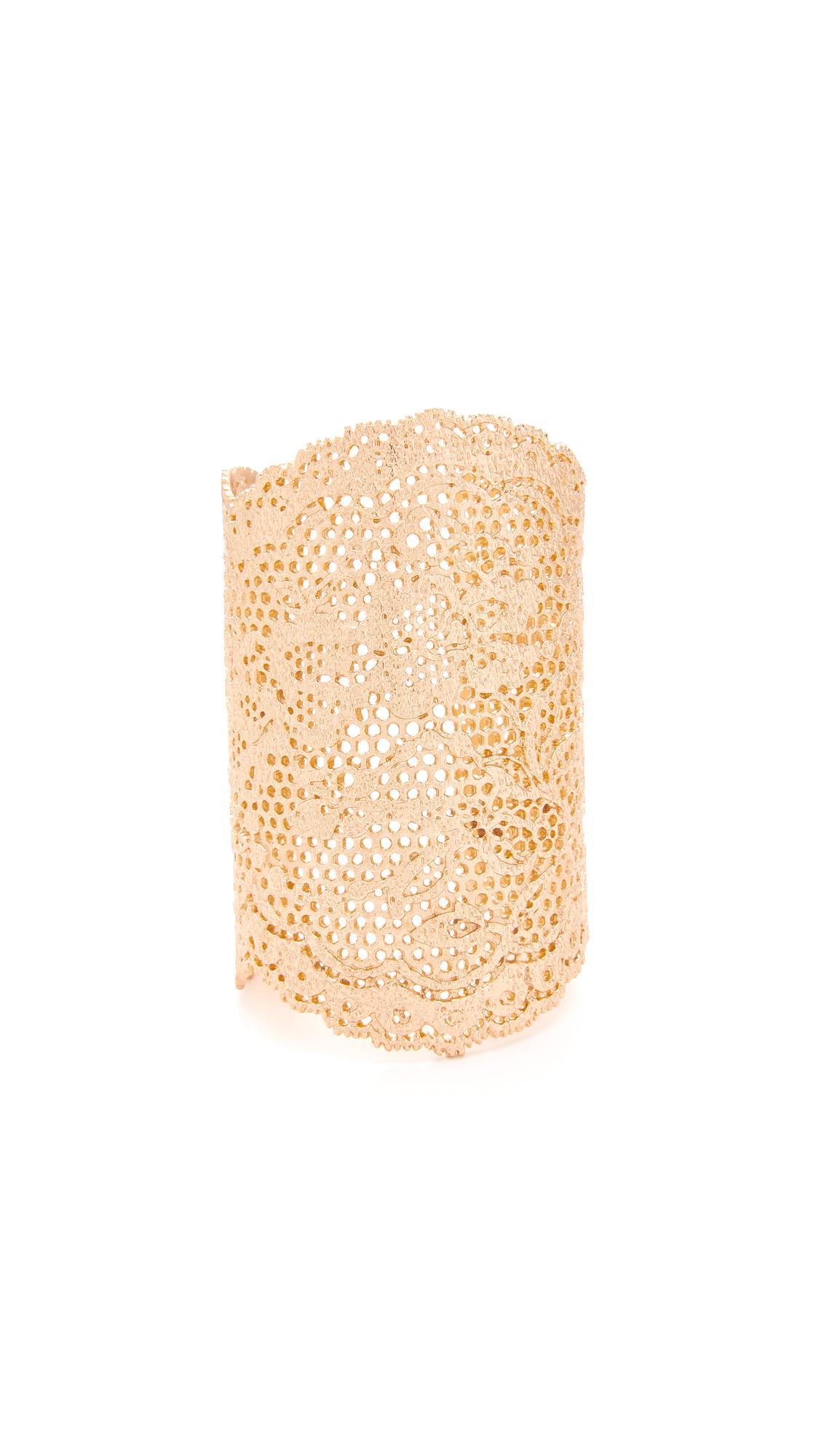 Aurelie Bidermann Lace Cuff - Rose Gold at Shopbop