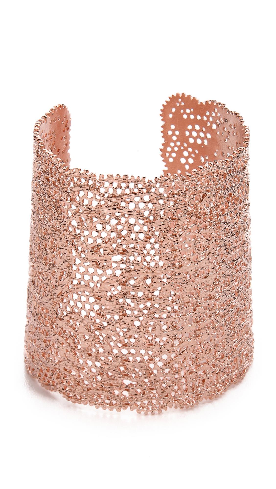 Aurelie Bidermann Vintage Lace Cuff - Rose Gold at Shopbop