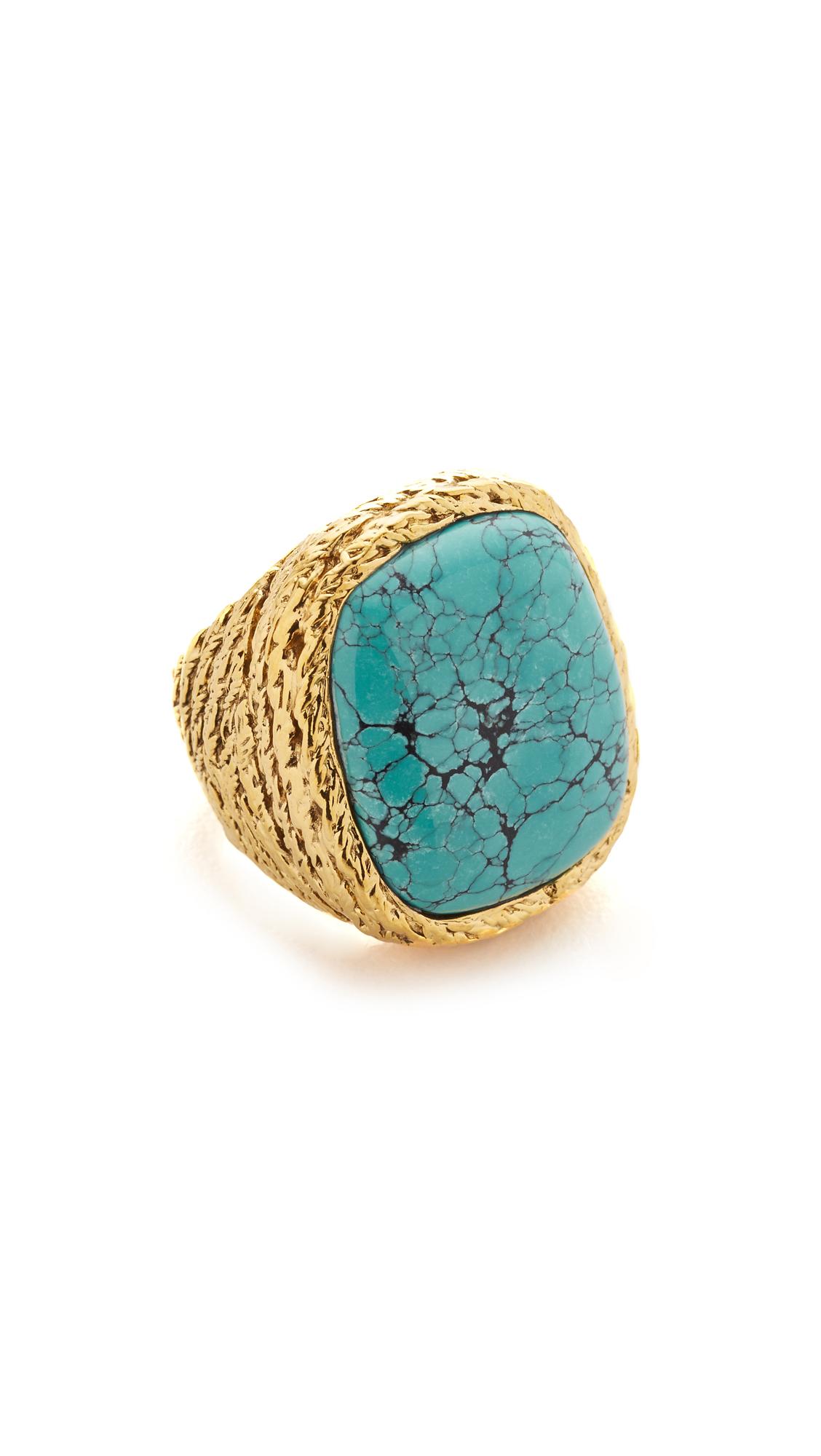 Aurelie Bidermann Miki Ring With Stone - Gold at Shopbop