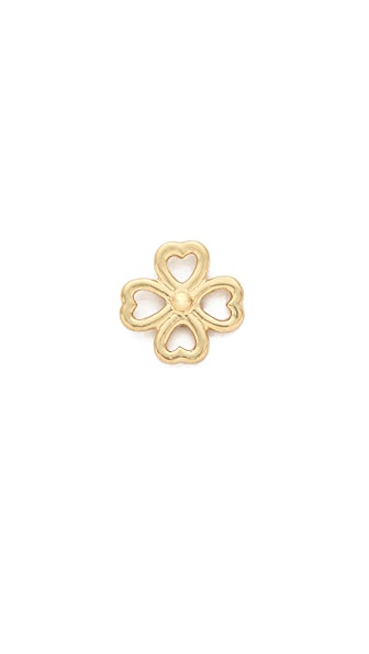 Aurelie Bidermann 18k Gold Mini Clover Stud Earring
