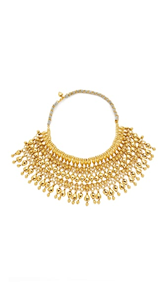Aurelie Bidermann Heart Beaded Bib Necklace - Gold