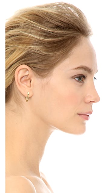 Aurelie Bidermann Asclepios Hoop Earrings