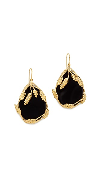Aurelie Bidermann Francoise Earrings - Black/Gold