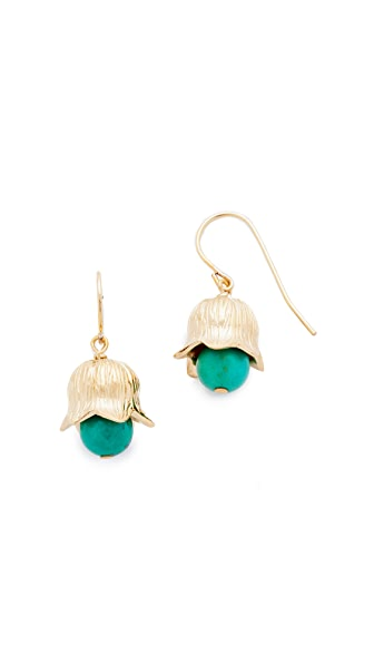 Aurelie Bidermann Lily of the Valley Earrings - Turquoise