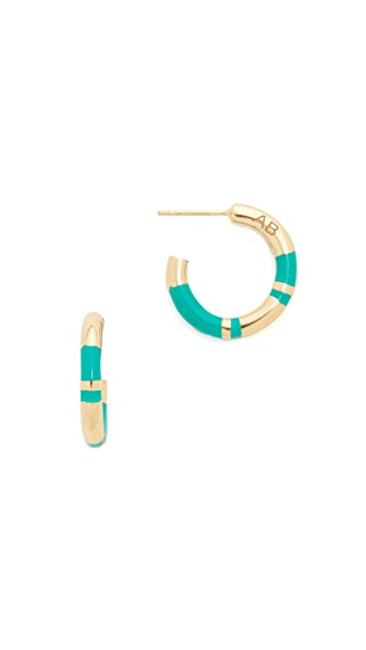 Aurelie Bidermann Positano Hoop Earrings