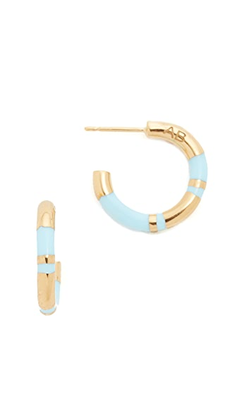Aurelie Bidermann Positano Hoop Earrings