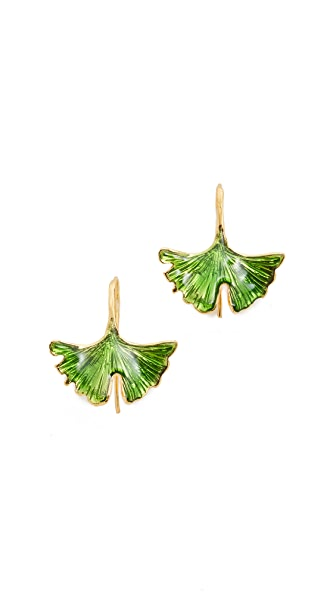 Aurelie Bidermann Tangerine Earrings - Jade