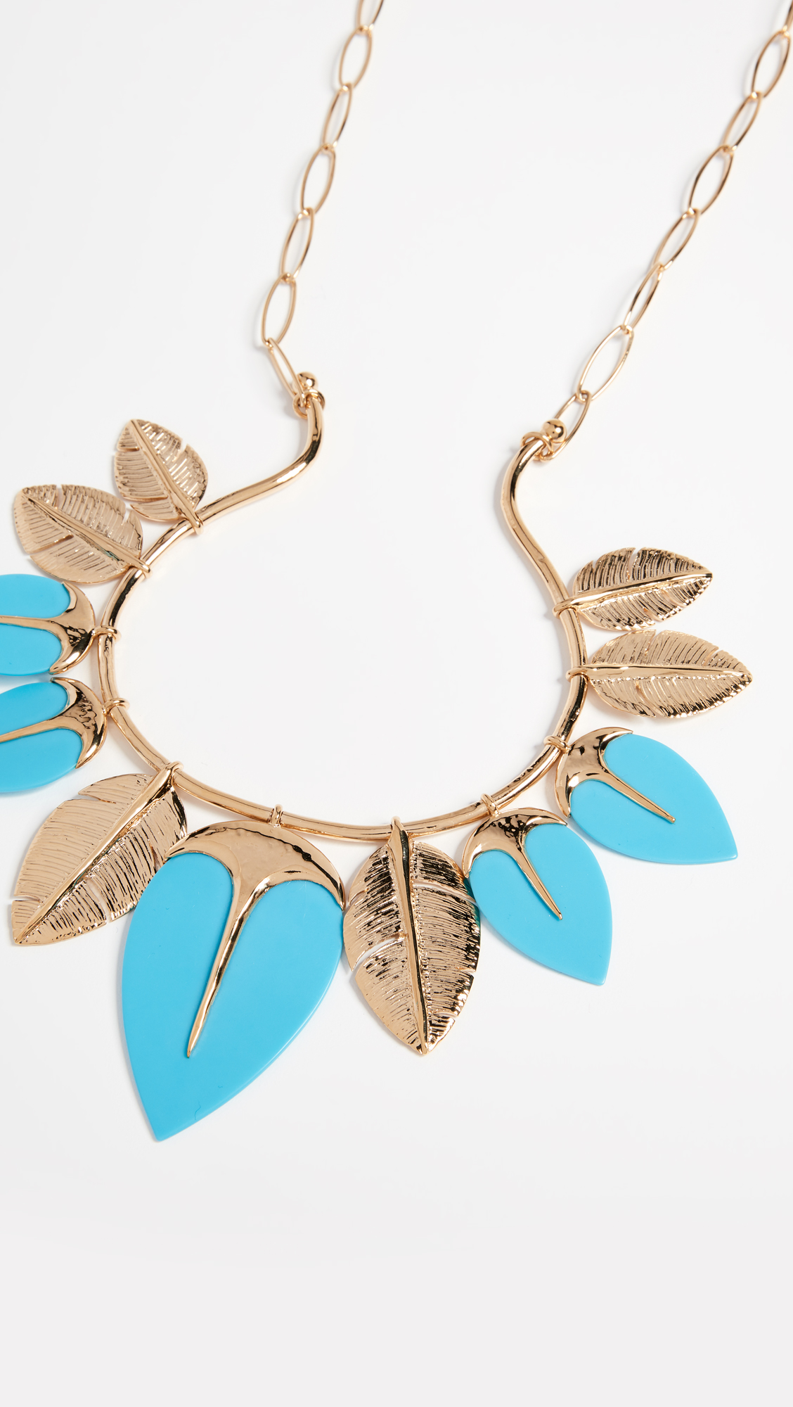 Talitha Long Necklace in Turquoise 18K Gold-Plated Brass Aur Oq8ExCEZw1