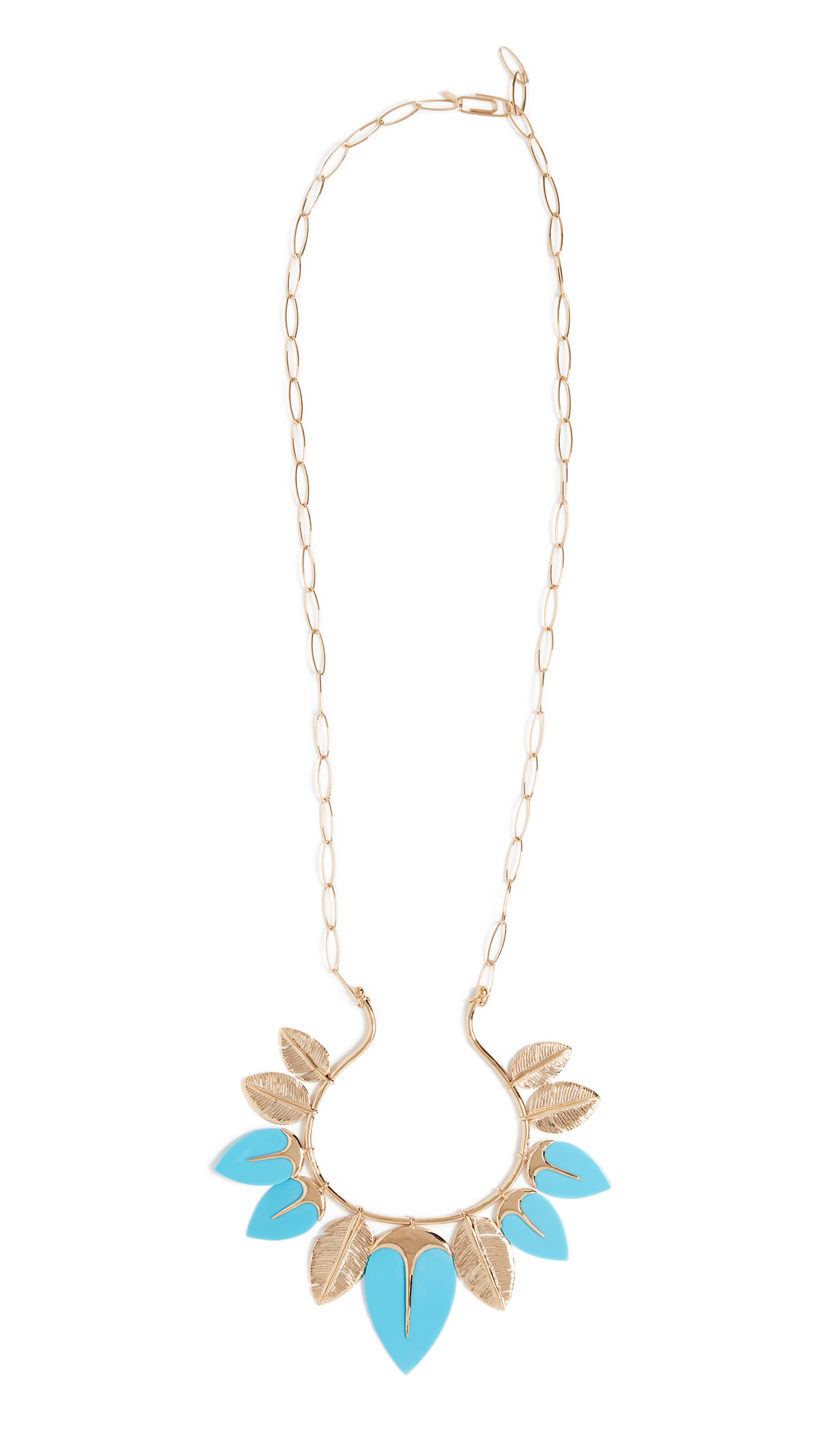 Aurelie Bidermann Talitha Long Necklace In Turquoise