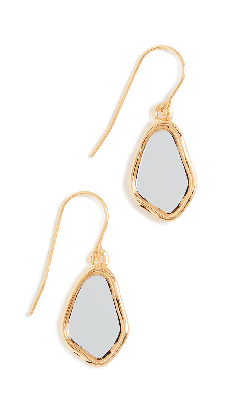 Aurelie Bidermann Ciottolo Pendant Earrings with Mirror - Miroir