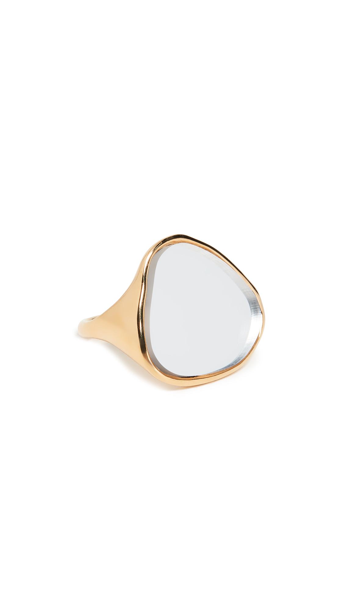 Aurelie Bidermann Ciottolo Ring - Miroir