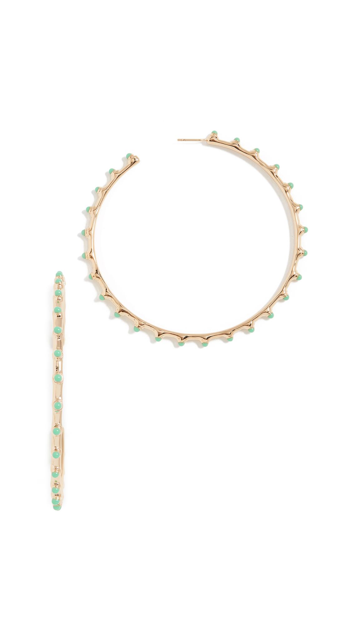 Aurelie Bidermann Hoop Earrings - Turquoise