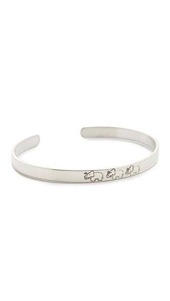 Aurelie Bidermann Fine Jewelry Elephants Bangle