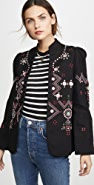 Alix of Bohemia Anja Black Jacket Folk Embroidery