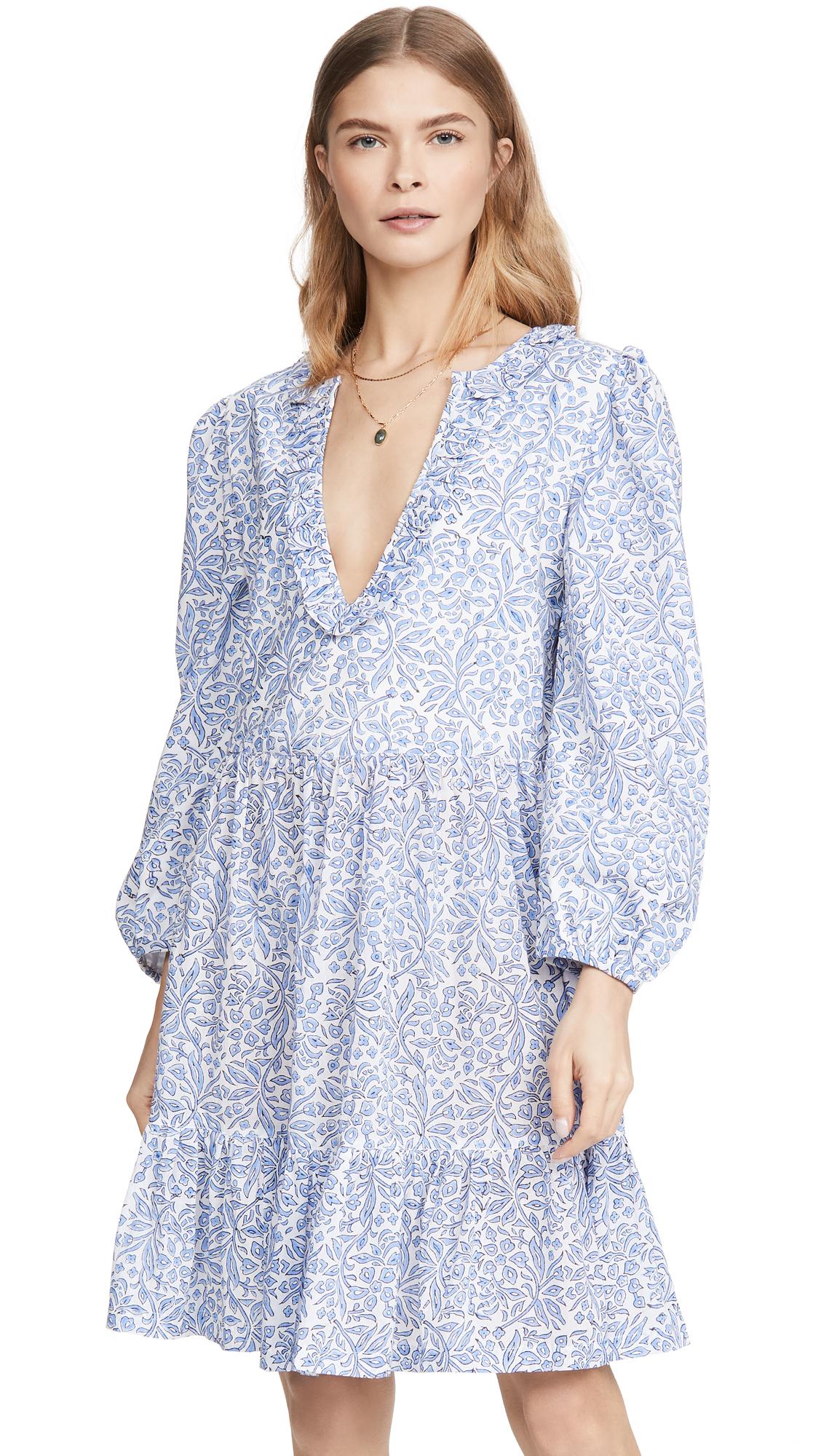 Buy Alix of Bohemia Lorelei Periwinkle Block Print Dress online beautiful Alix of Bohemia Clothing, Dresses