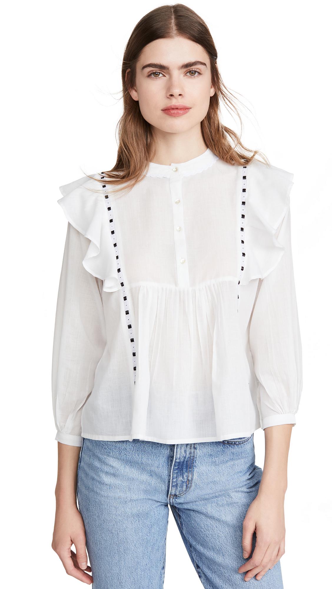 Alix of Bohemia June Ruffle & Ribbon Shirt - 50% Off Sale