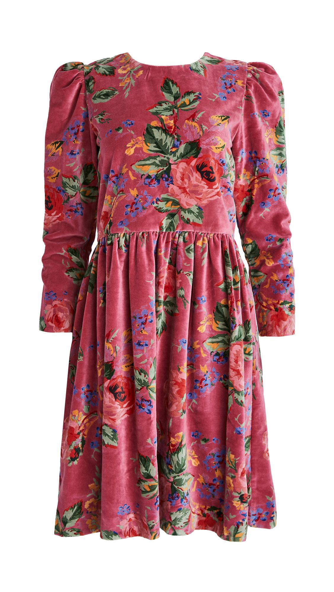 Alix Of Bohemia Ruby Velvet Dress In Pink