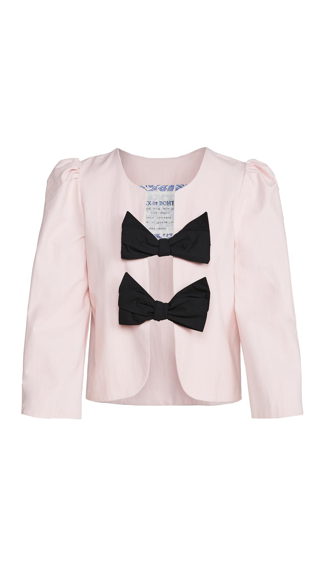 Alix Of Bohemia Tina Pink Bow Jacket