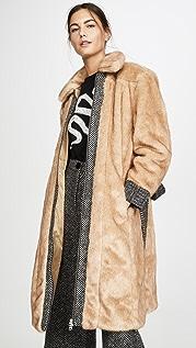 ALEXACHUNG Пальто из вставок