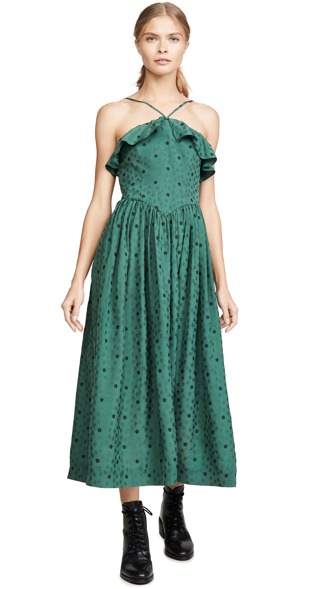 Buy ALEXACHUNG online - photo of ALEXACHUNG Halterneck Dress