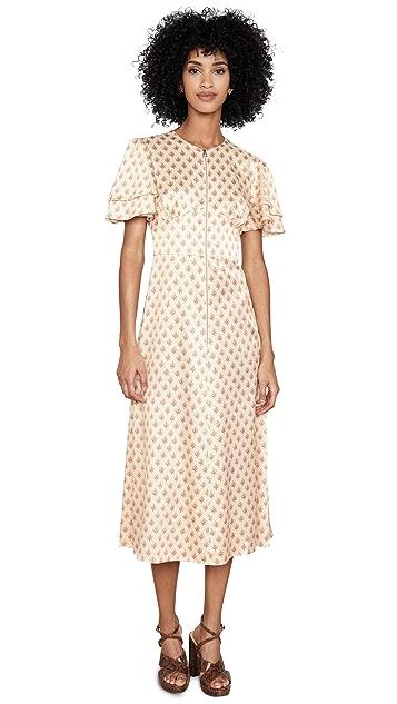 ALEXACHUNG Zip Detail Long Dress