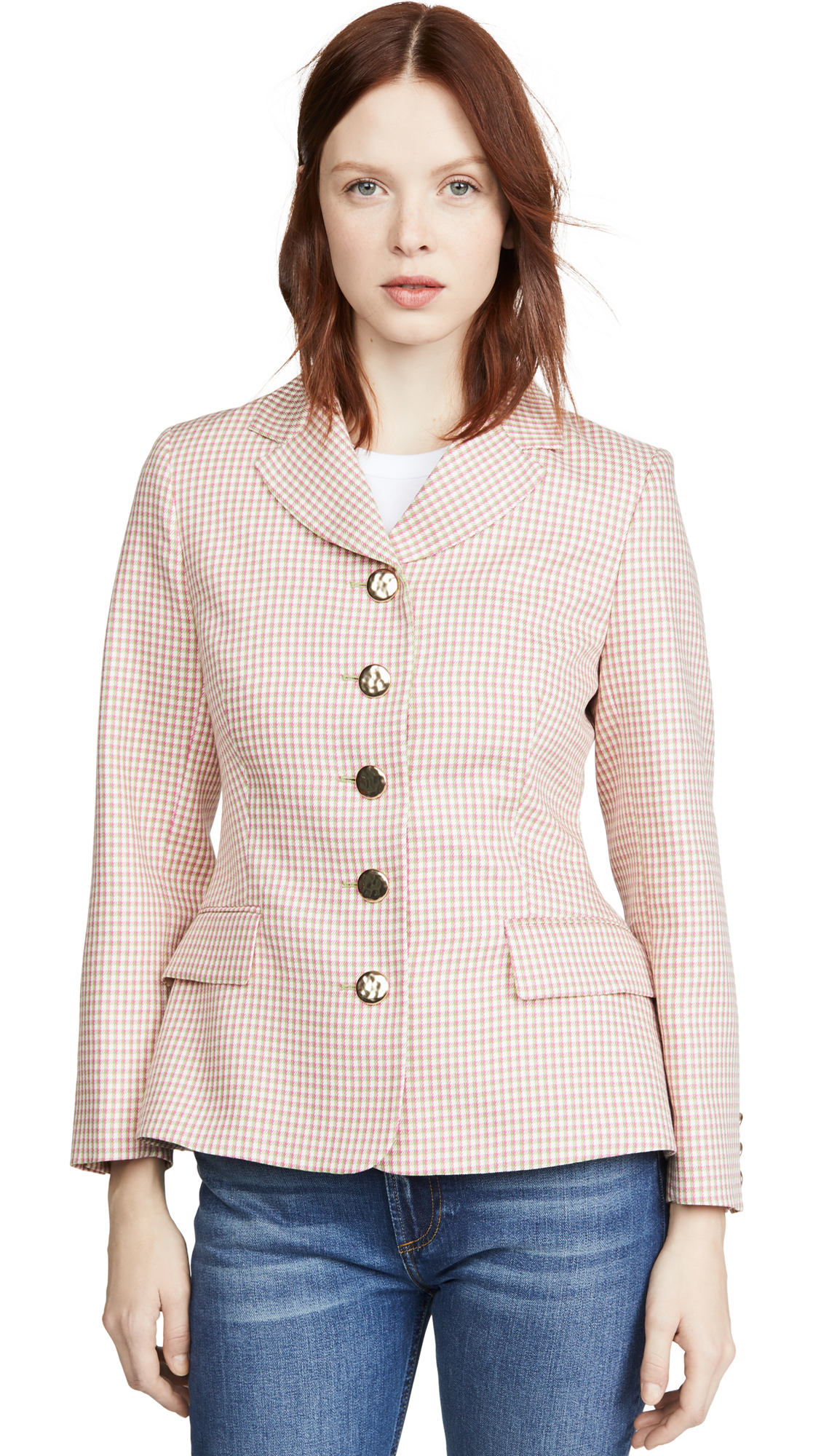 Buy ALEXACHUNG online - photo of ALEXACHUNG Single Breasted Jacket Houndstooth