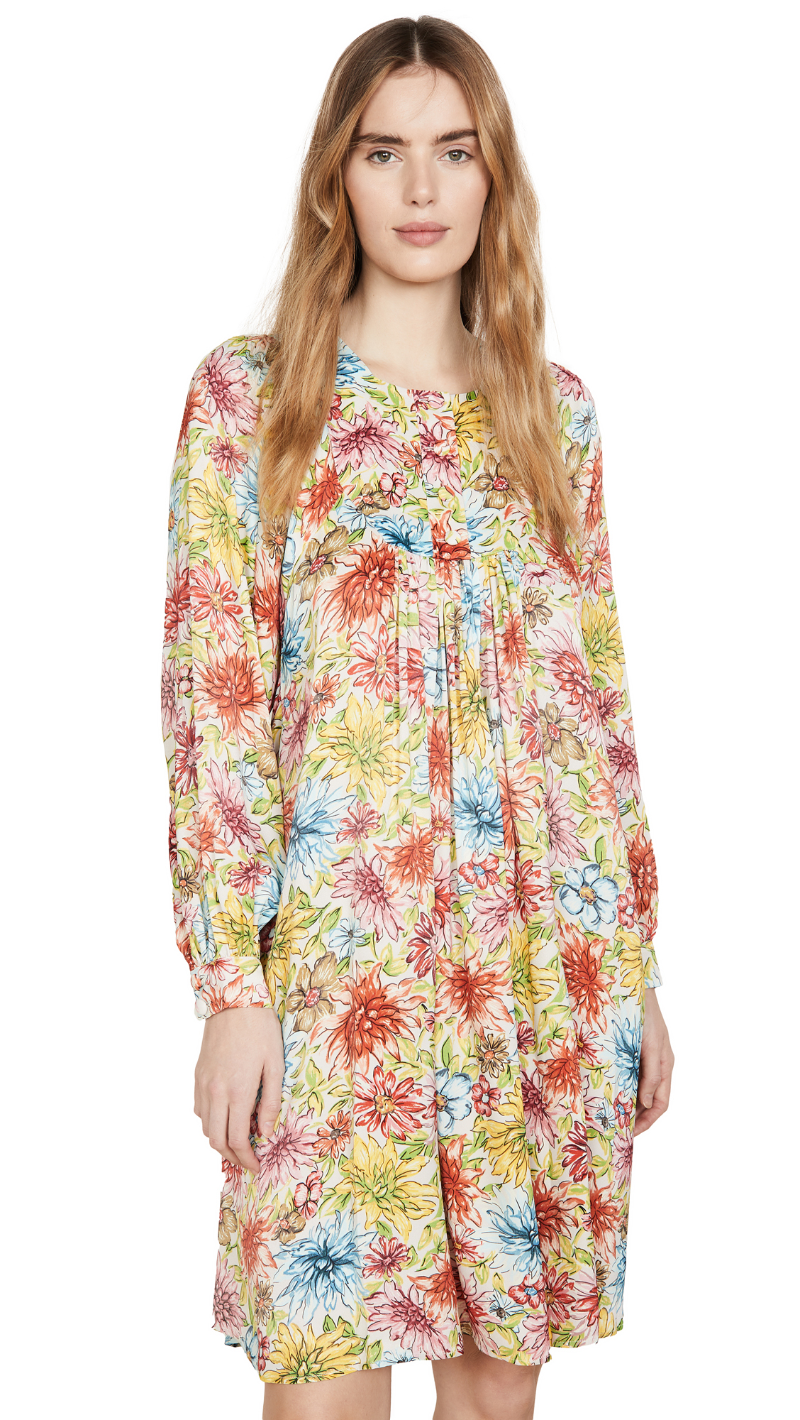 Buy ALEXACHUNG online - photo of ALEXACHUNG Floral Batwing Dress