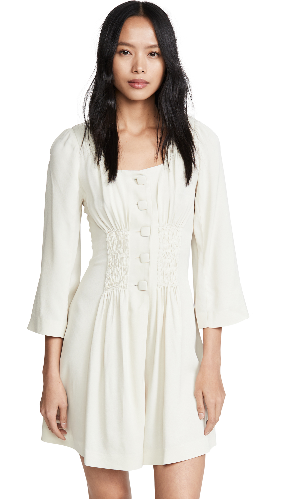 Buy ALEXACHUNG online - photo of ALEXACHUNG Gathered Front Dress