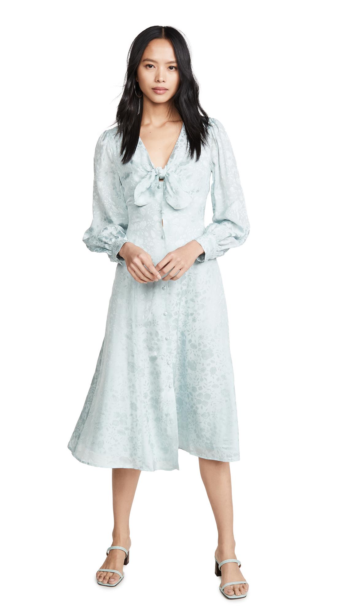 ALEXACHUNG Floral V Neck Dress - 50% Off Sale