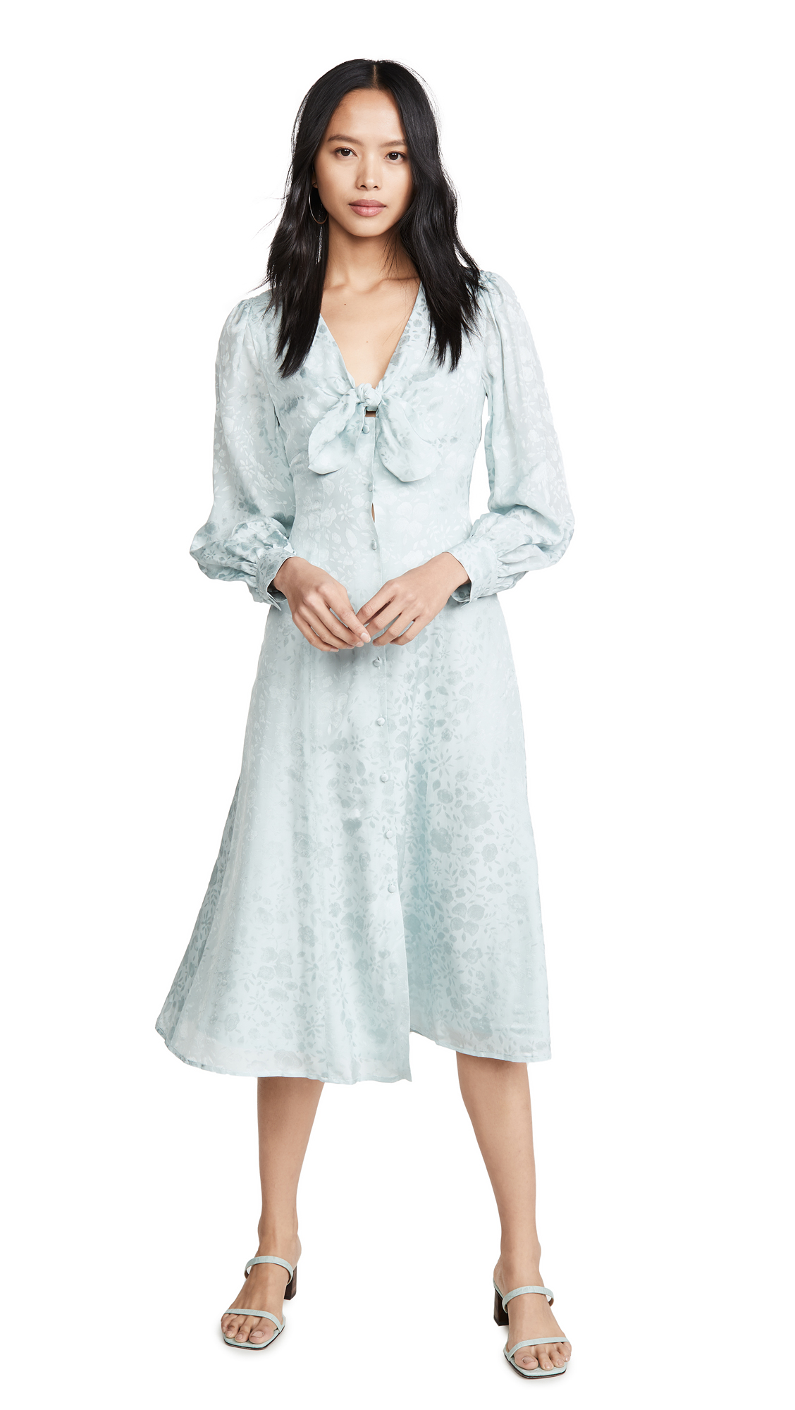 Buy ALEXACHUNG Floral V Neck Dress online beautiful ALEXACHUNG Clothing, Dresses