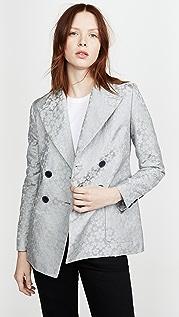 ALEXACHUNG Double Breasted Jacket Daisy