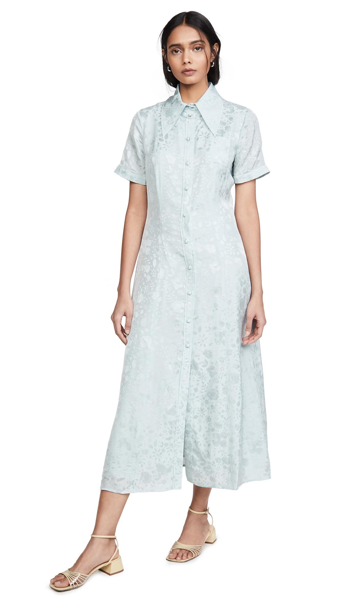 ALEXACHUNG Puff Sleeve Button Dress - 55% Off Sale