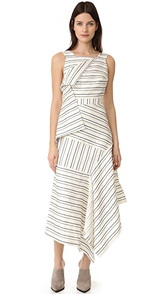 Acler Harlan Dress - Self Stripe