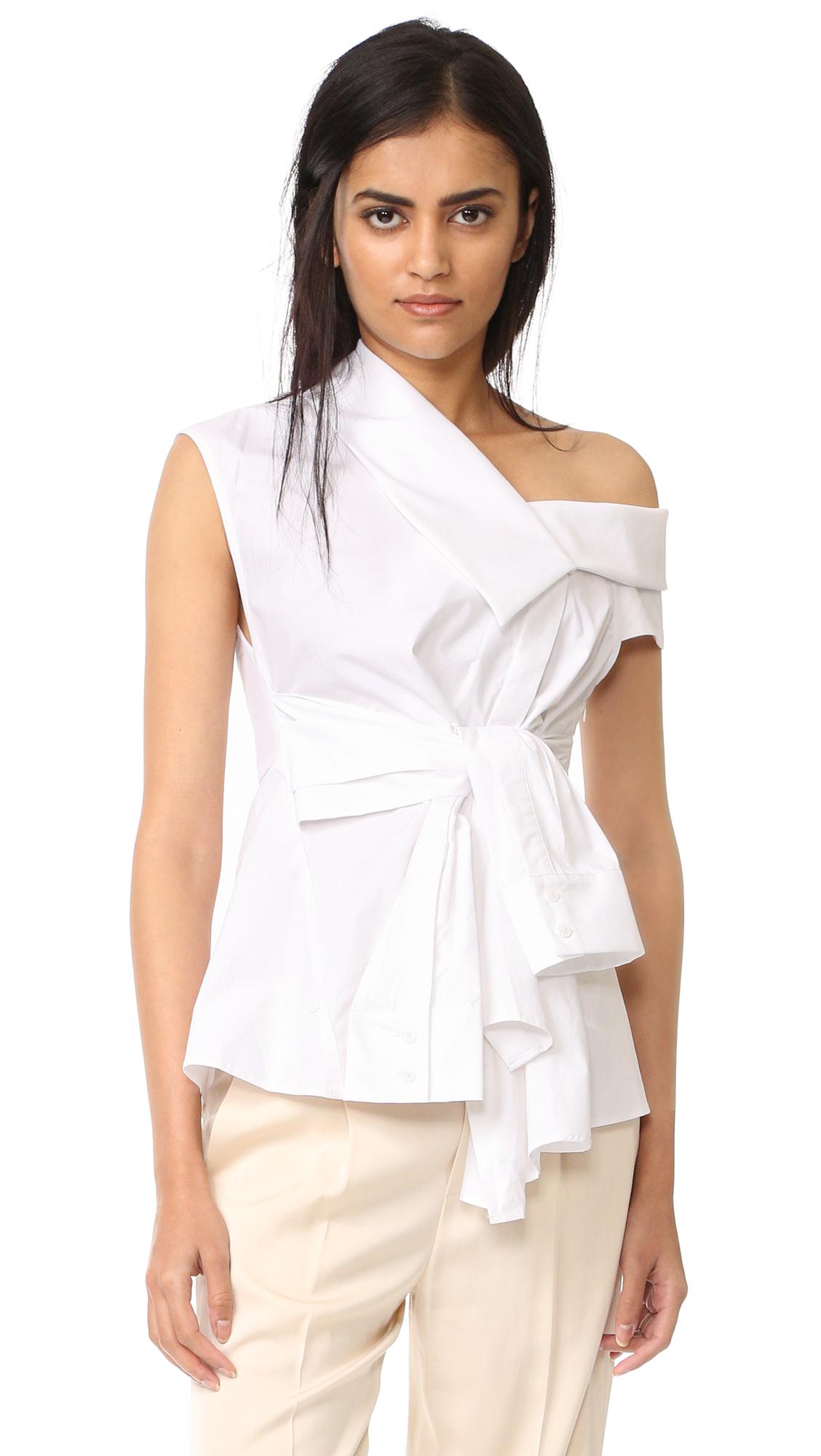 Acler Waldorf Shirt - White at Shopbop