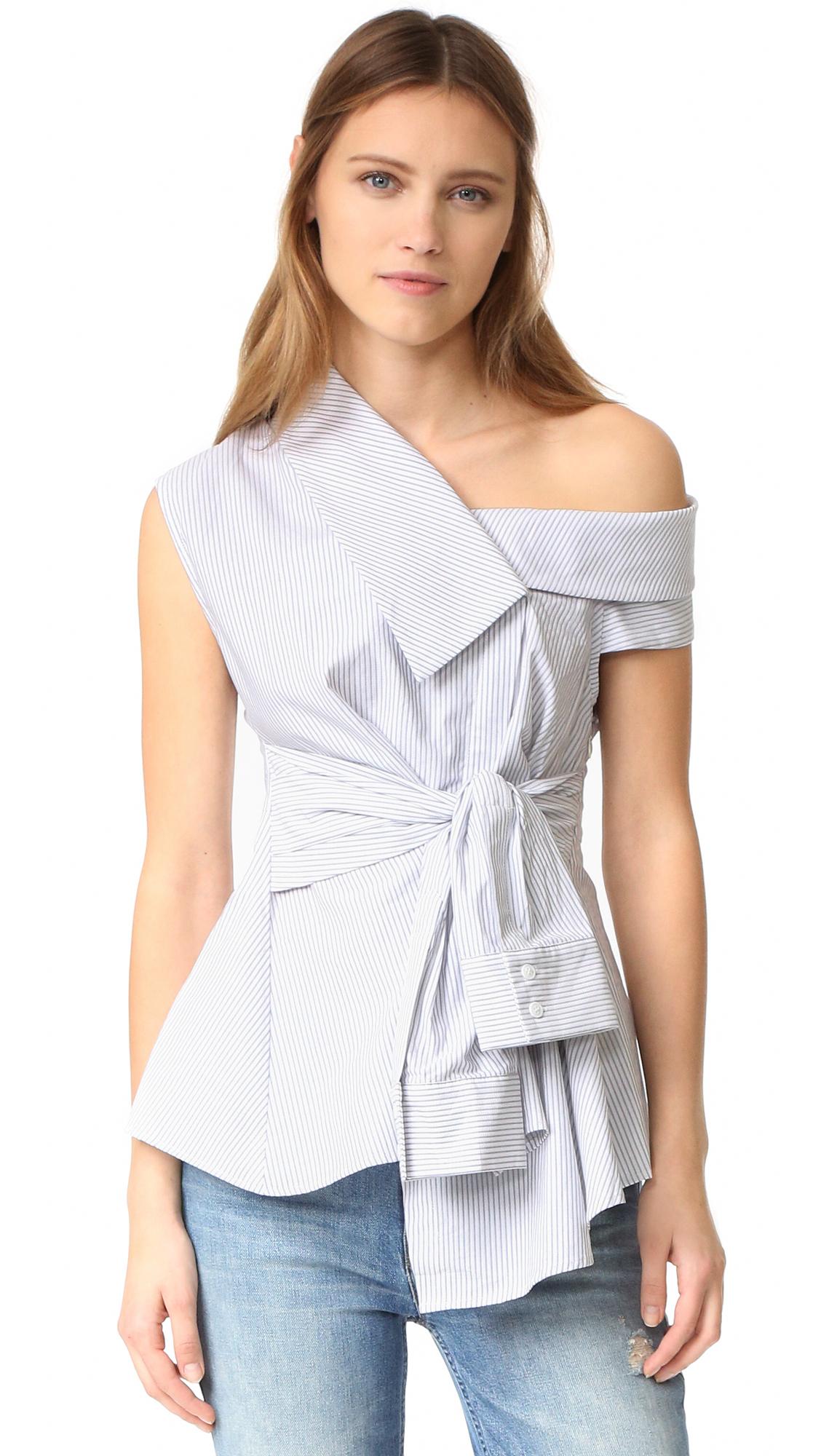Acler Waldorf Shirt - Stripe at Shopbop