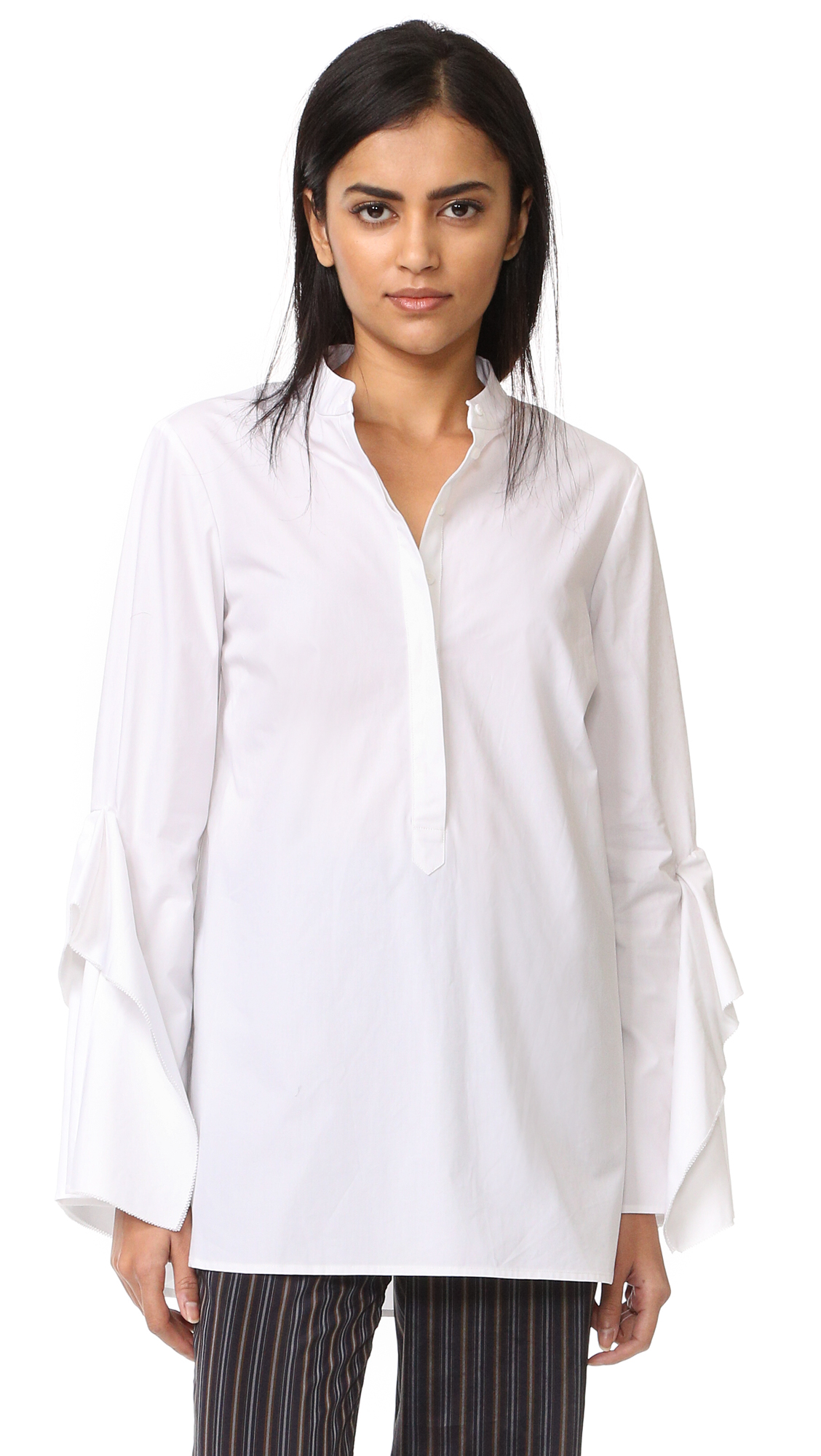 Acler Sloan Shirt - White at Shopbop