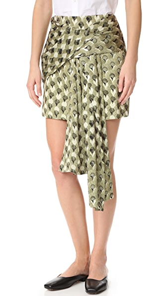 Acler Ambrose Skirt - Arch Overlay Print