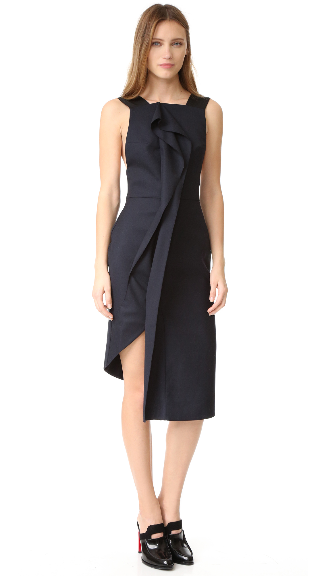 Acler Waverley Dress - Midnight at Shopbop
